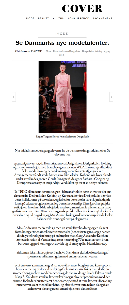 cover-Danmarks nye modetalenter2